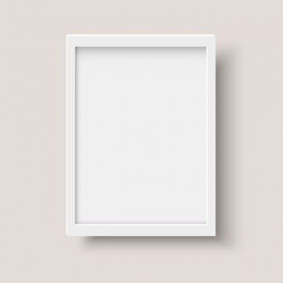 White frame the photo